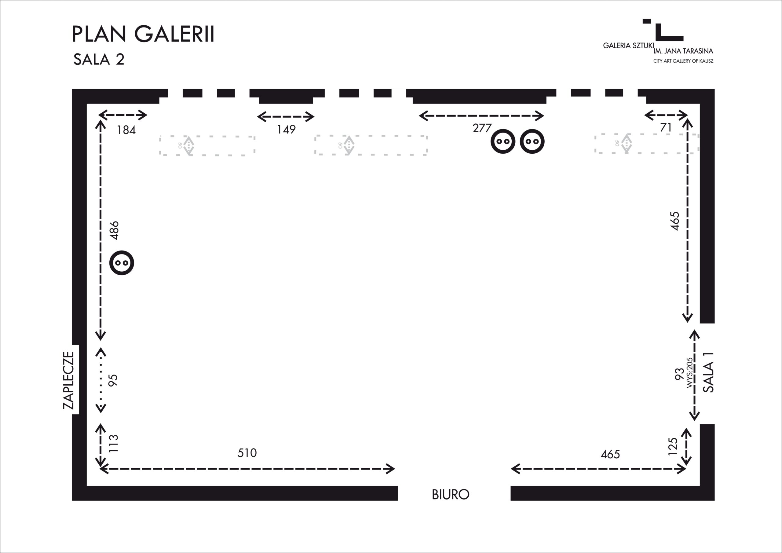 PLAN GALERII SALA 2